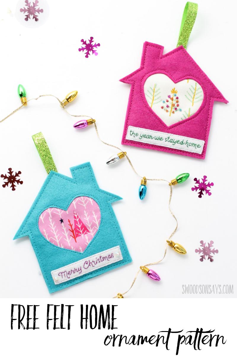 free felt ornament pattern
