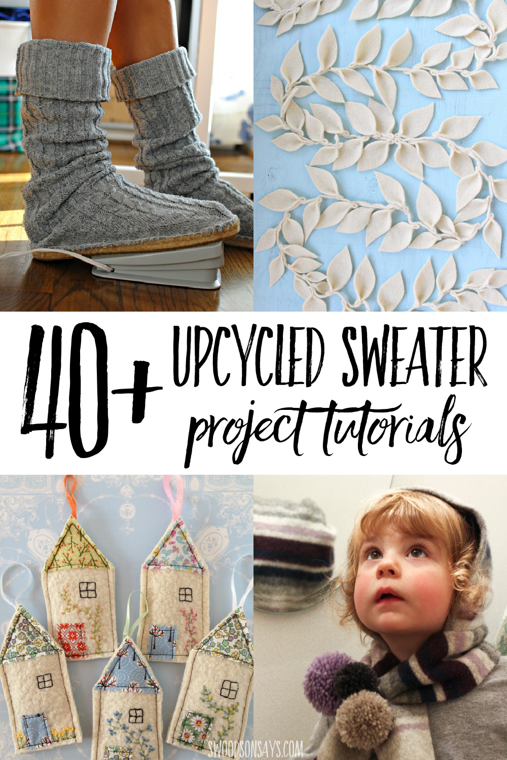 upcycled sweater tutorials