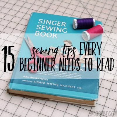 Sewing tips for beginners -15 mistakes to avoid!