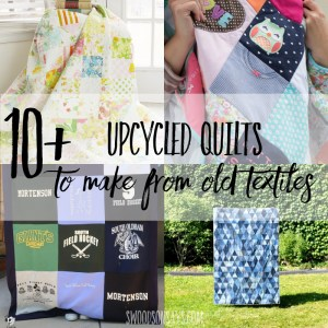 How to make a quilt from old clothes - 10+ ideas
