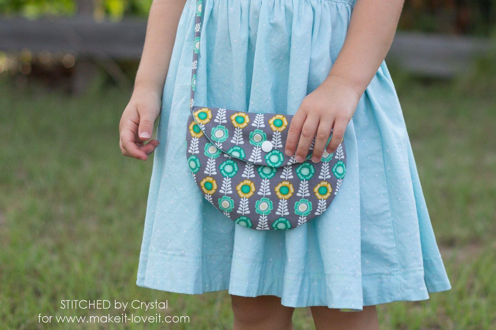 simple half circle purse pattern free