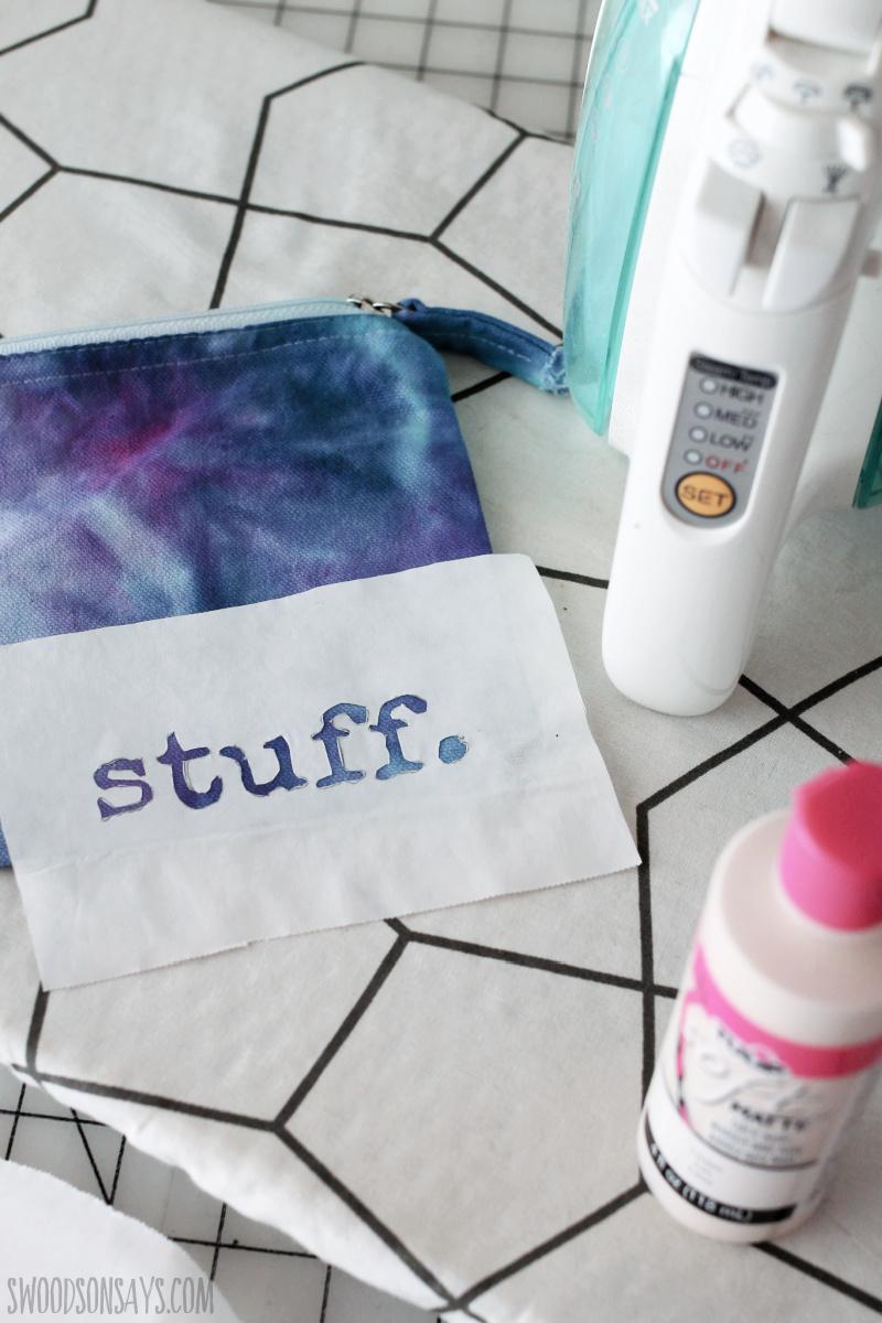 freezer paper stencil tye dye