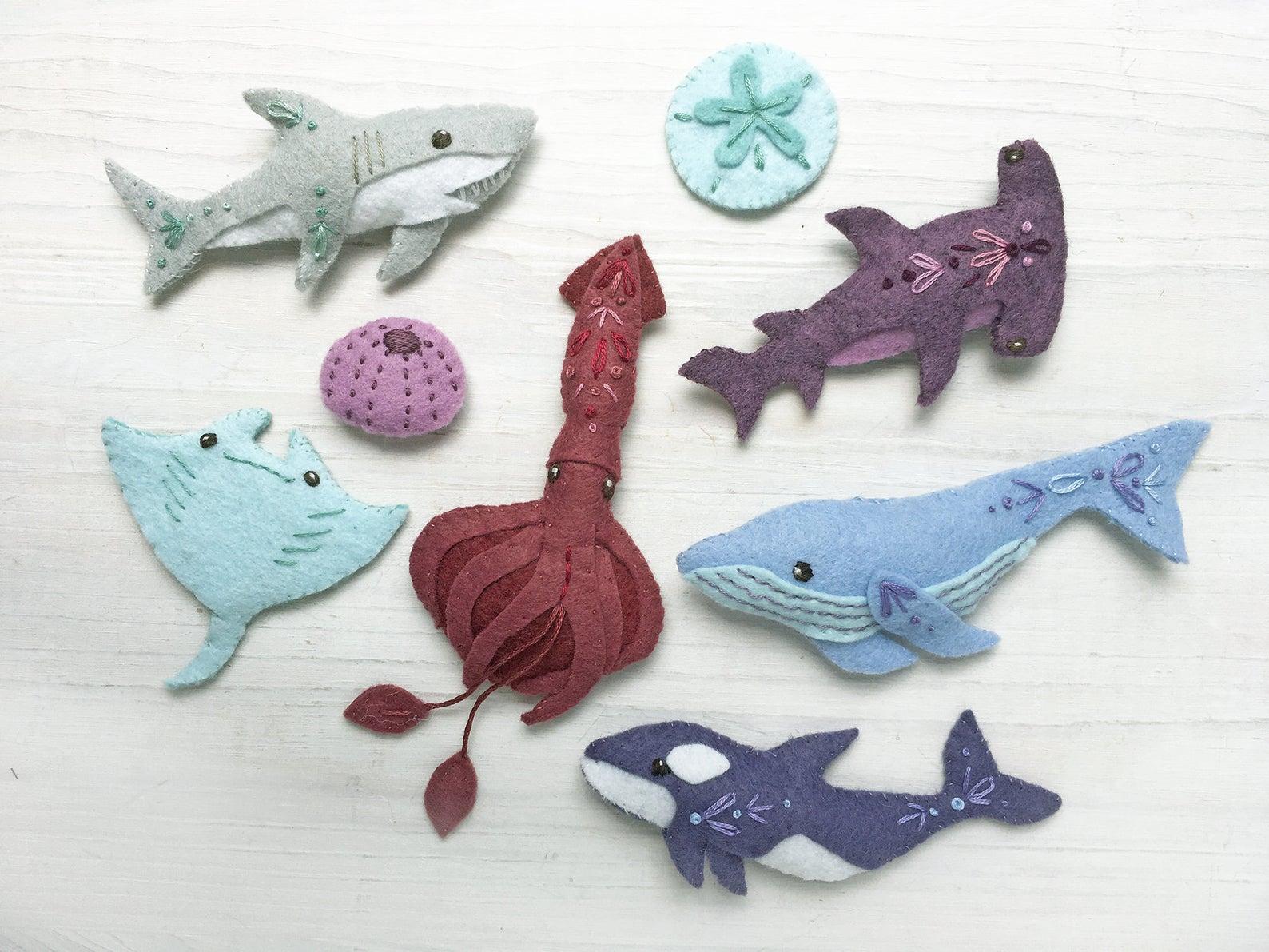 felt shark pattern
