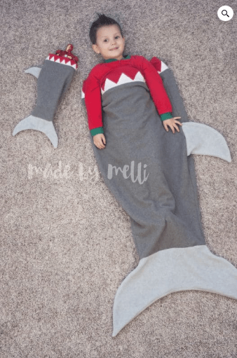 free shark sleeping bag sewing pattern