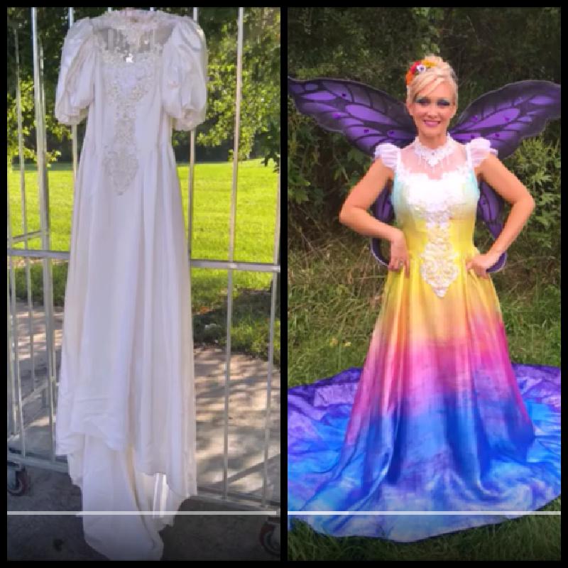 upcycled wedding dress into fairy dress