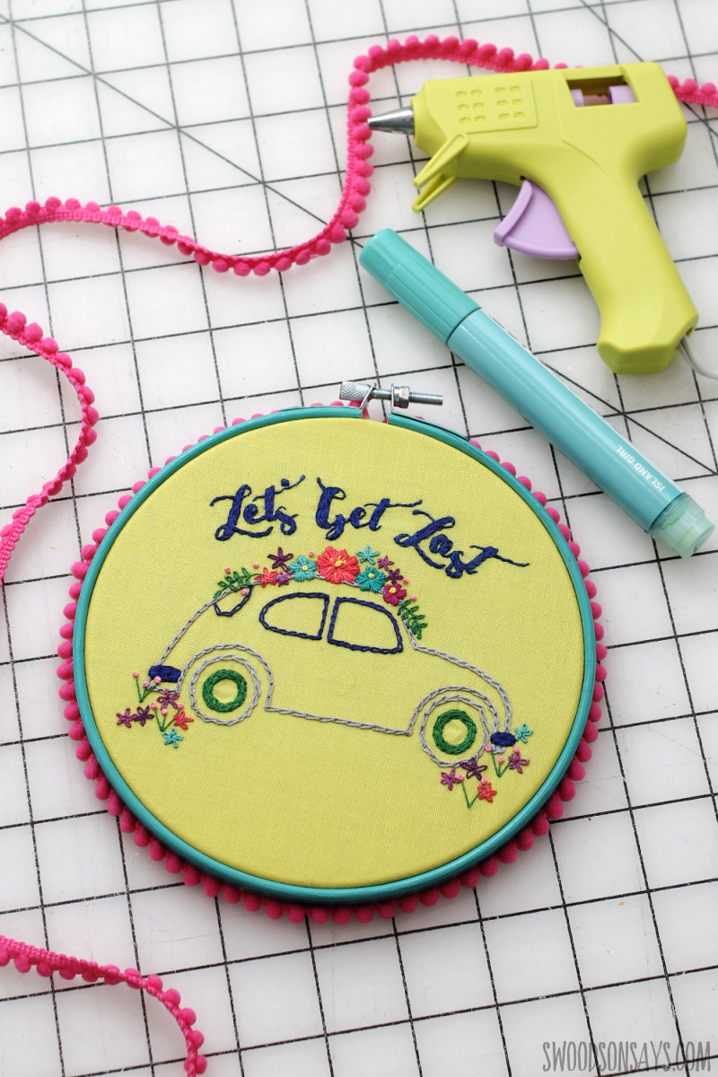 vintage hand embroidery pattern