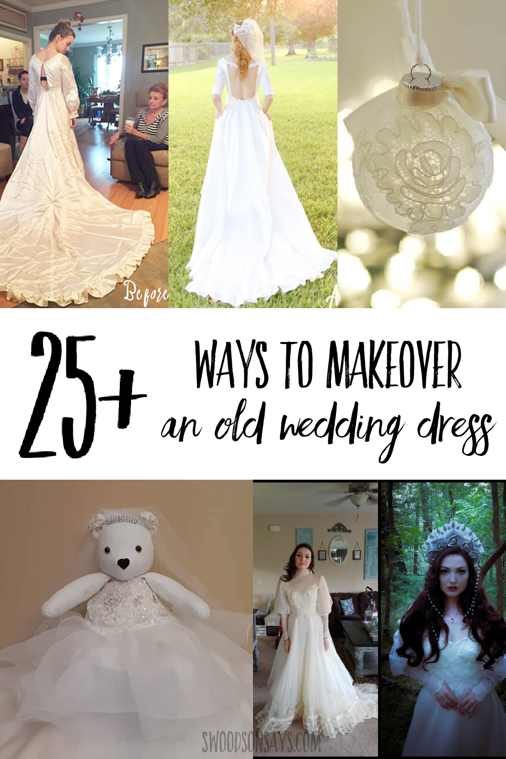 ways to makeover an old wedding dress