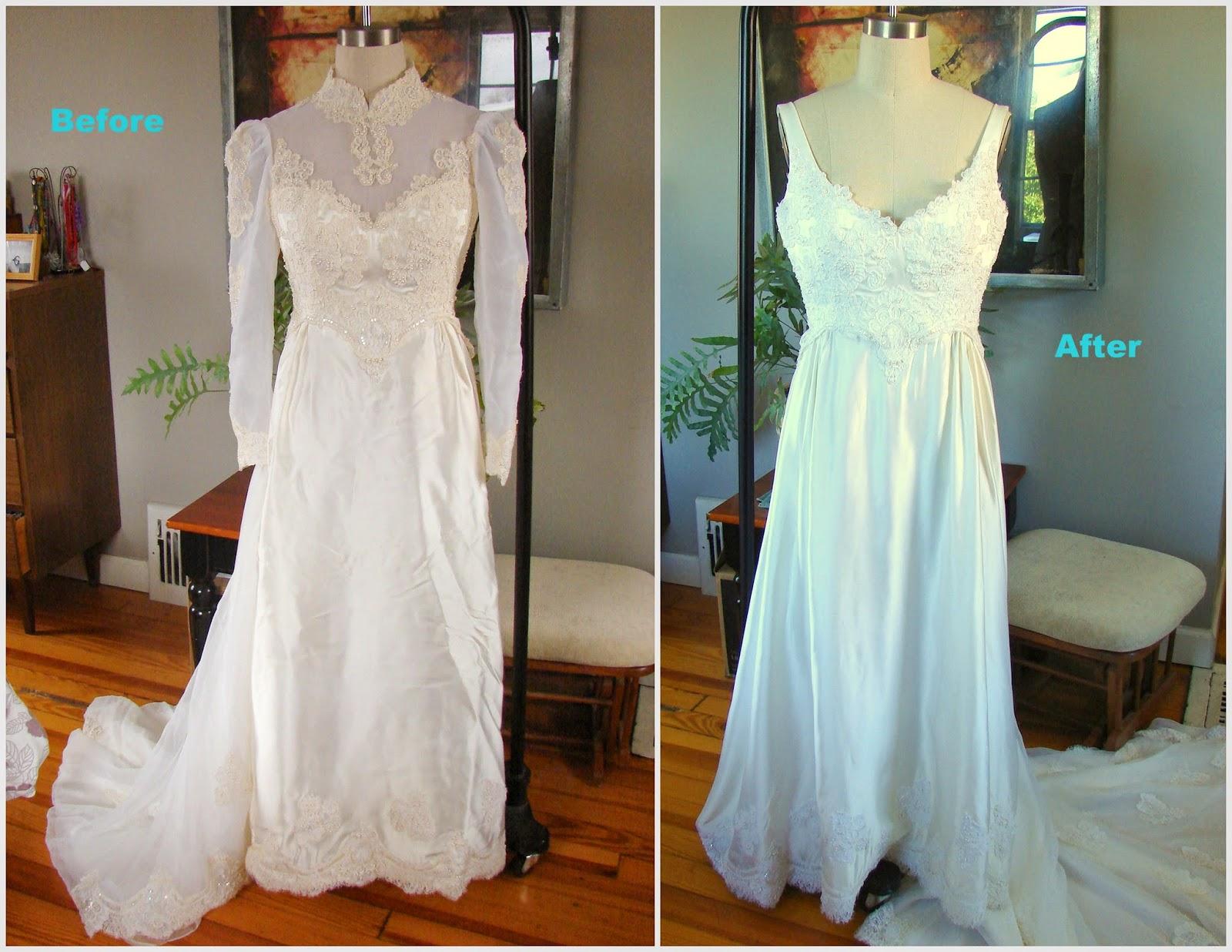 wedding dress refashion picture