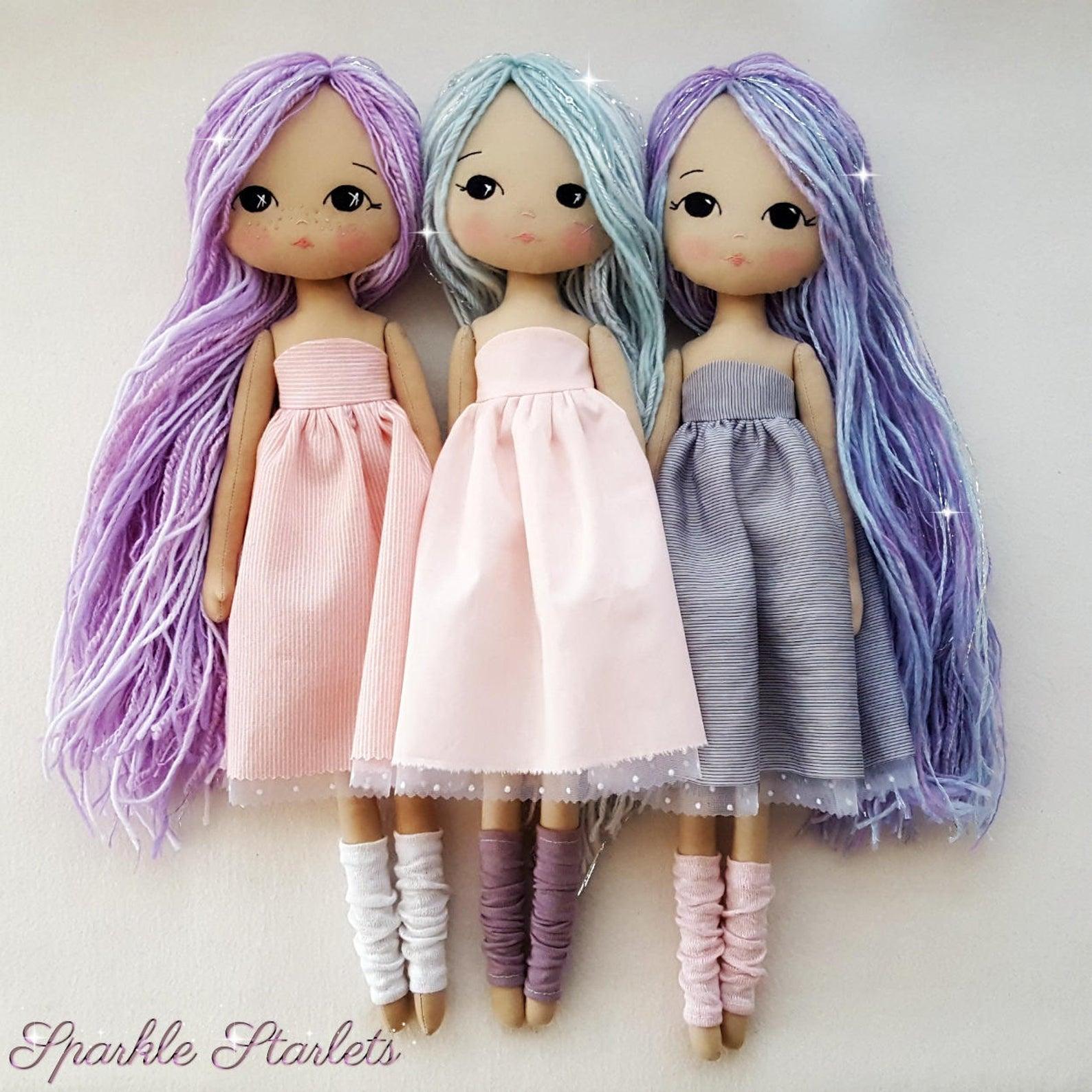 yarn hair doll pattern
