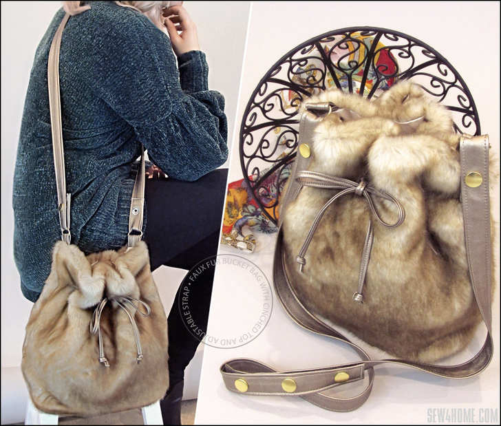 faux fur purse tutorial