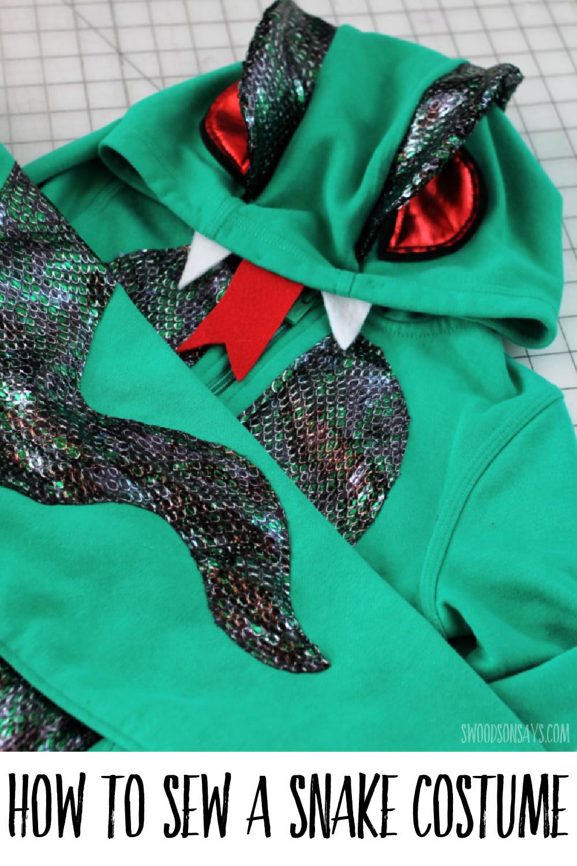 free snake costume pattern