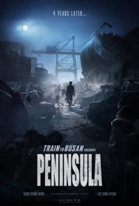 Dark and dour poster for the movie Peninsula