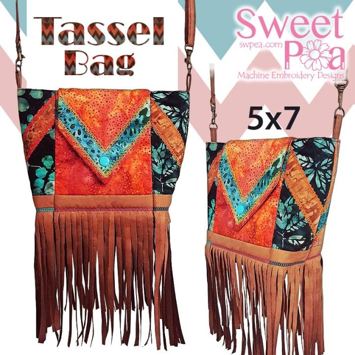 Machine Embroidery Designs Tassel bag
