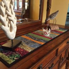 1805 Debra Hoover Ward freeform table runner