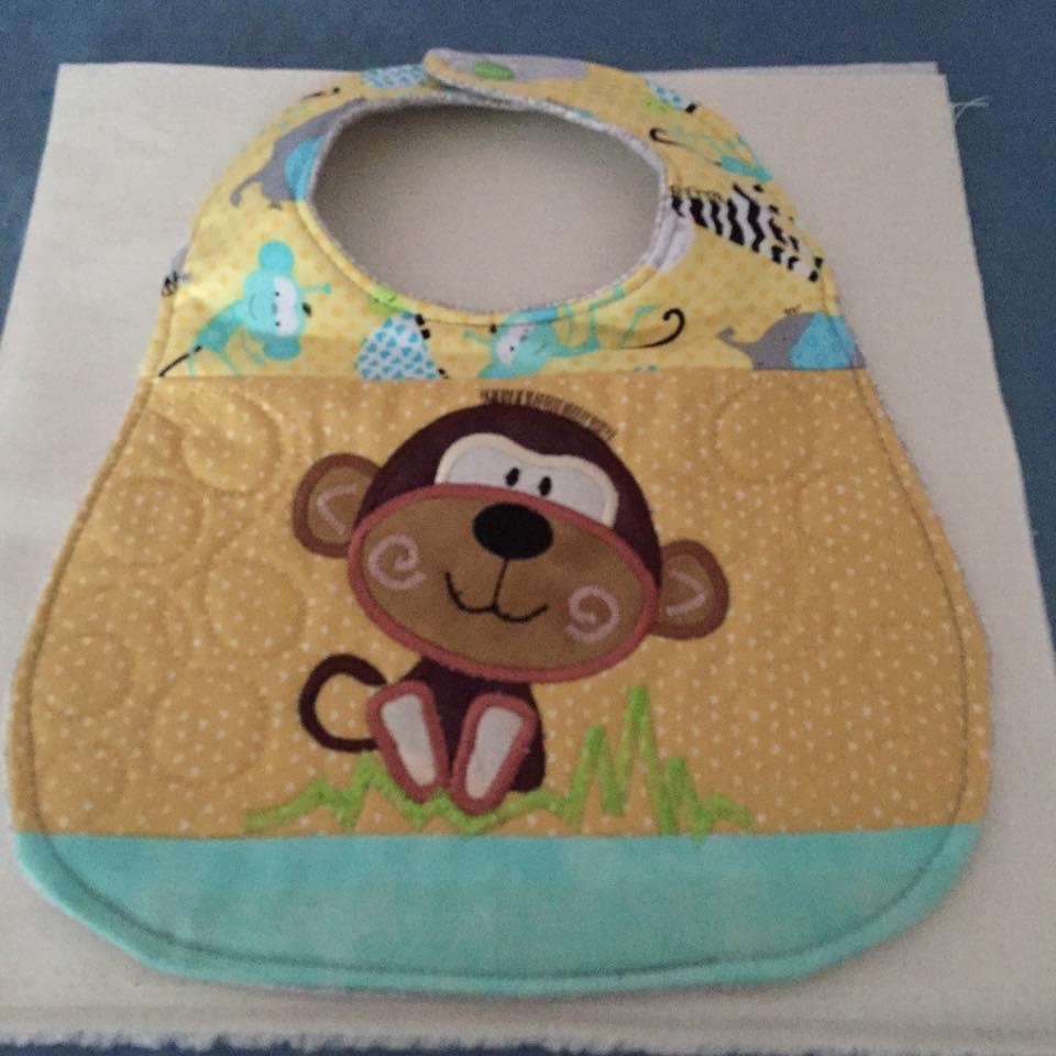 2505 Terry Allen baby monkey bib
