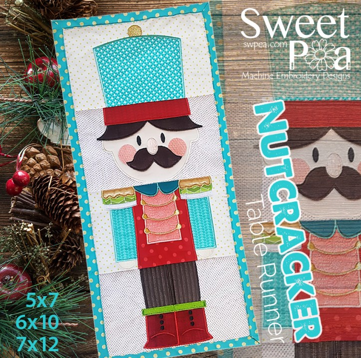 machine embroidery design in the hoop nutcracker