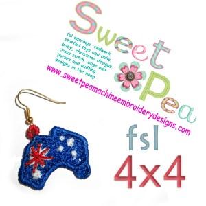 machine embroidery design in the hoop earrings