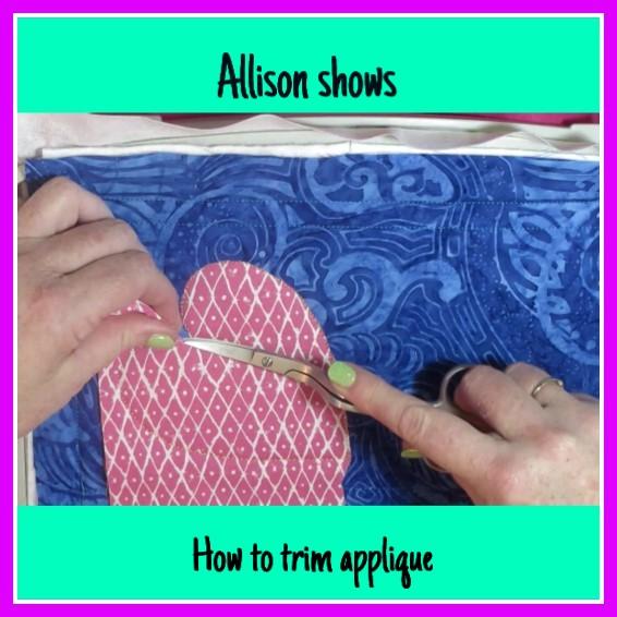 machine embroidery design trim applique