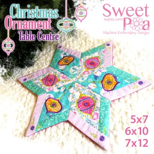 sew-a-long in the hoop machine embroidery design Christmas ornament Table centre