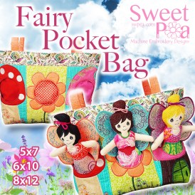 Fairy Pocket Bag 5x7 6x10 8x12 in the hoop