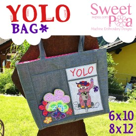 YOLO bag 6x10 8x12 in the hoop