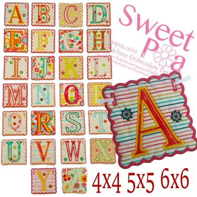 Alphabet bunting 4x4 5x5 and 6x6 in the hoop machine embroidery design.jpg