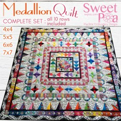 Medallion Quilt Full 4x4 5x5 6x6 7x7 in the hoop