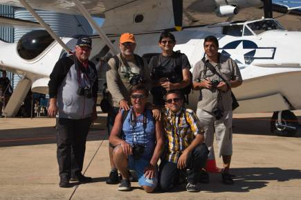 """Remo Garone with some of his very good friends at Nîmes for the 2015 meeting """"La Féria de l'Air"""""""
