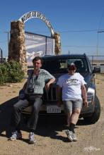 Remo Garone in the Mohave desert with Gilles Brion, by a very hot day visiting Victorville, Edwards AFB and the Mohave Spaceport