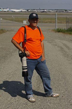Remo Garone, June 2013 at Ted Stevens international airport, Alaska, USA !