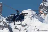 Aerospatiale SA 318C ALOUETTE AST - cn: 2163 - N318DH - Southern Aircraft Consultancy Inc Trustee - CVF Courchevel 13.03.2016 by Gregory Manchon
