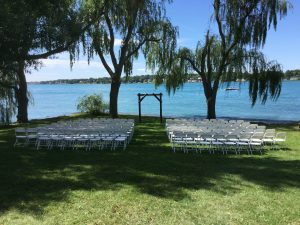 wedding ceremony overlooking the St. Clair River