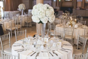 shows silver chiavari chairs at a wedding