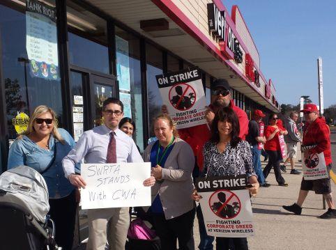 SWRTA members showing solidarity