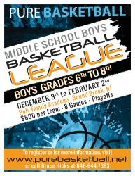 Pure Basketball League Poster