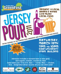 Jersey Pour Poster for GreenFest