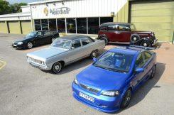 (L-R) Lotus Carlton, PC Viceroy, BXL Limousine, Astra 888