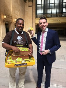 DoubleTree Hilton Hotel hands out cookies at Union Station