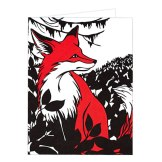 Grußkarte 'Fox'