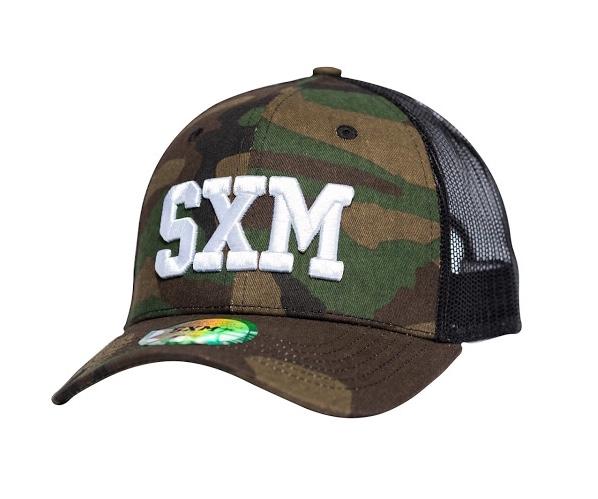 Casquette SXM trucker camouflage coté