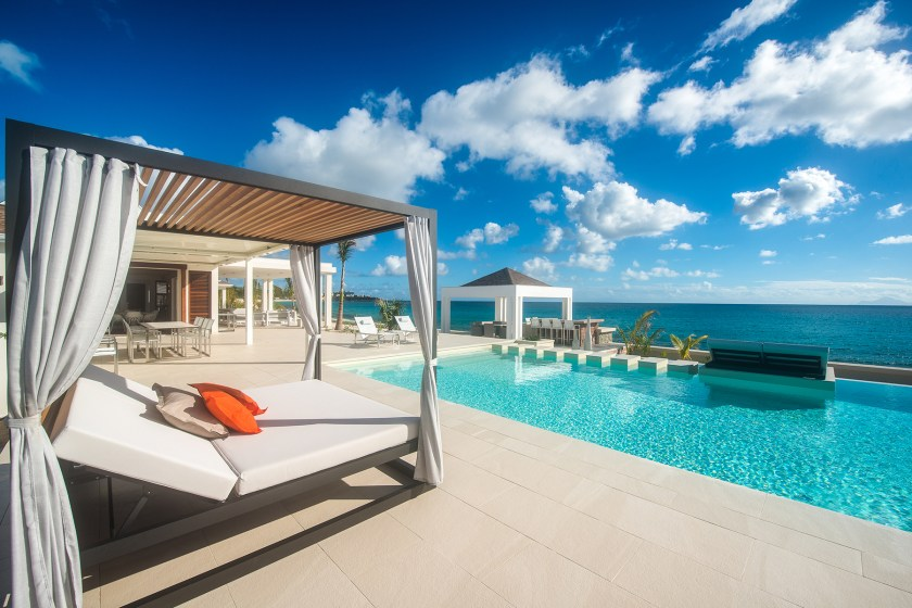 pool at turtle nest with ocean views