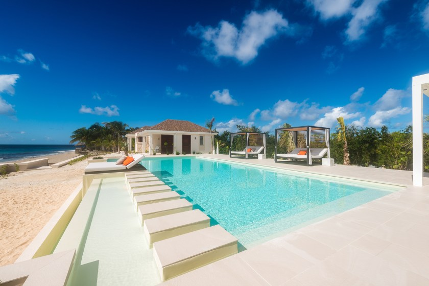 the pool at villa turtle nest in baie longue