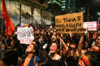 São Paulo 08/06/2016 2º ato Por Todas Elas na Avenida Paulista, contra o estupro. Foto Paulo Pinto/AGPT