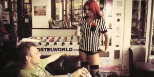 Red card Katarina League of Legends cosplay by SxyBlood Cosplay