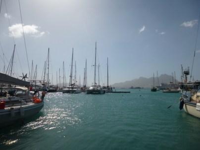 Unsere ME im Hafen von Mindelo