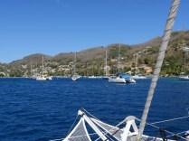Einlaufen in die Admirality Bay