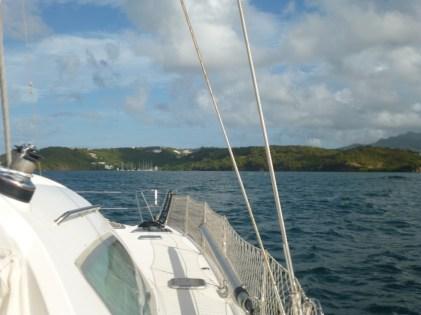 Einfahrt Le Phare Bleu Marina - Grenada