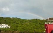 Zwei Regenbogen in Le Phare Bleu