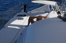 Der Captain beim Segeln