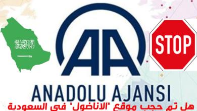 """صورة هل تم حجب موقع """"الاناضول"""" في السعودية (ناشطون وإعلاميون)"""
